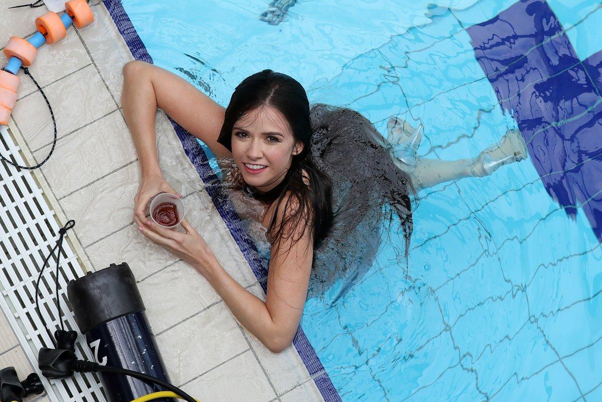 Jágrova přítelkyně Dominika fotila pod vodou.