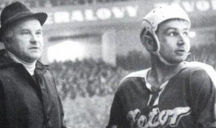 Jaroslav Jiřík (vpravo) v době své aktivní sportovní kariéry