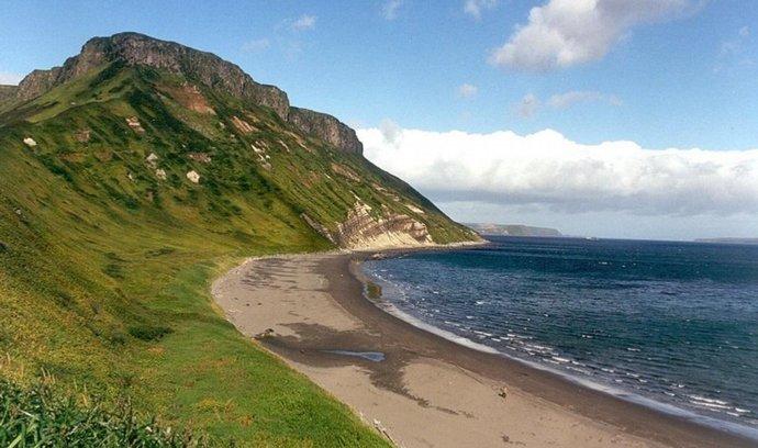 Jeden z Kurilských ostrovů