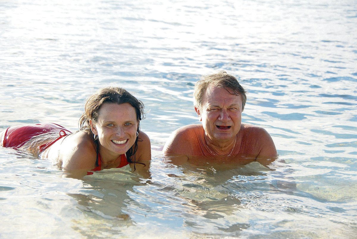 Jiří a Jana Adamcovi v moři