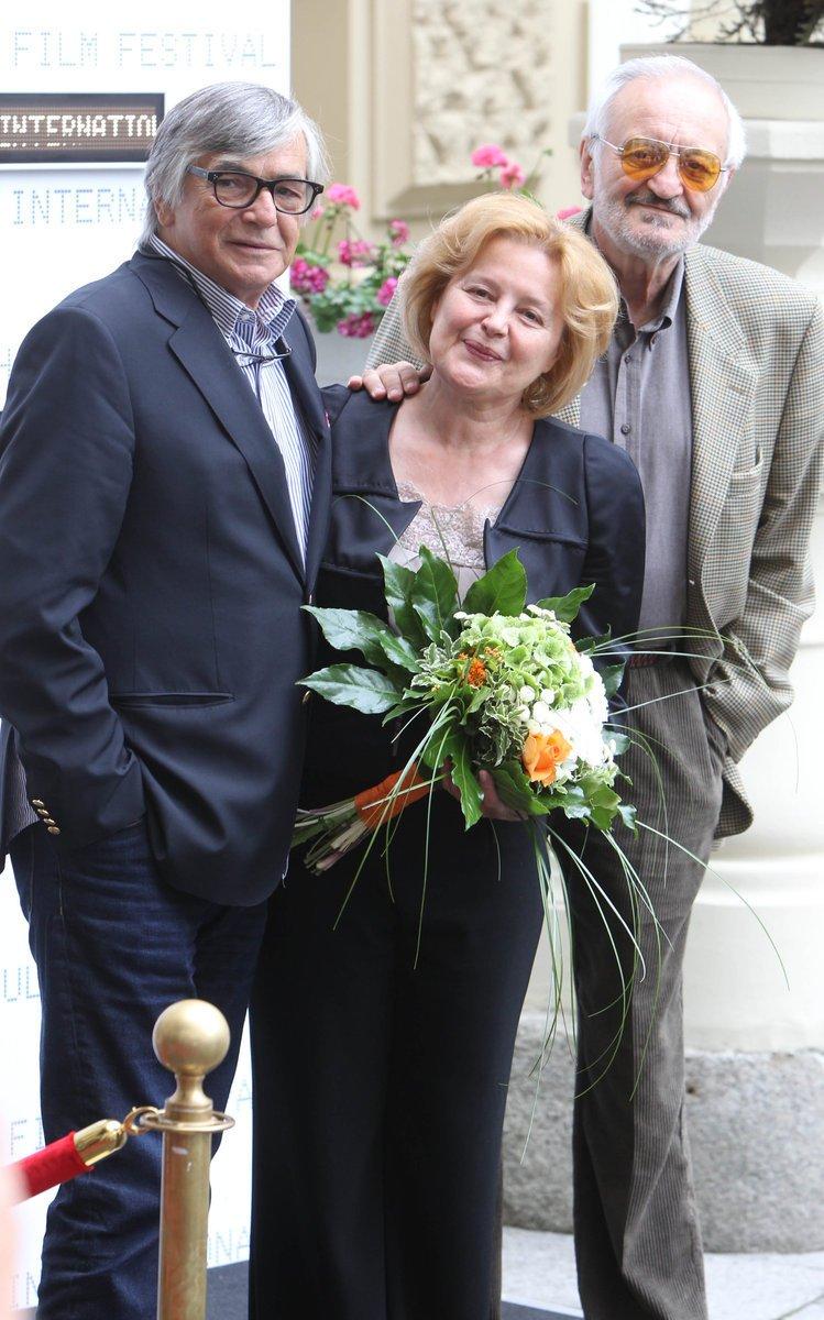 Jiří Bartoška, Magda Vášáryová a Milan Lasica