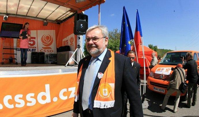 Jiří Havel během volební kampaně ČSSD
