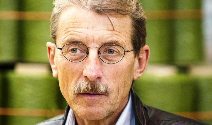 Jiří Hlavatý, majitel a ředitel textilky Juta