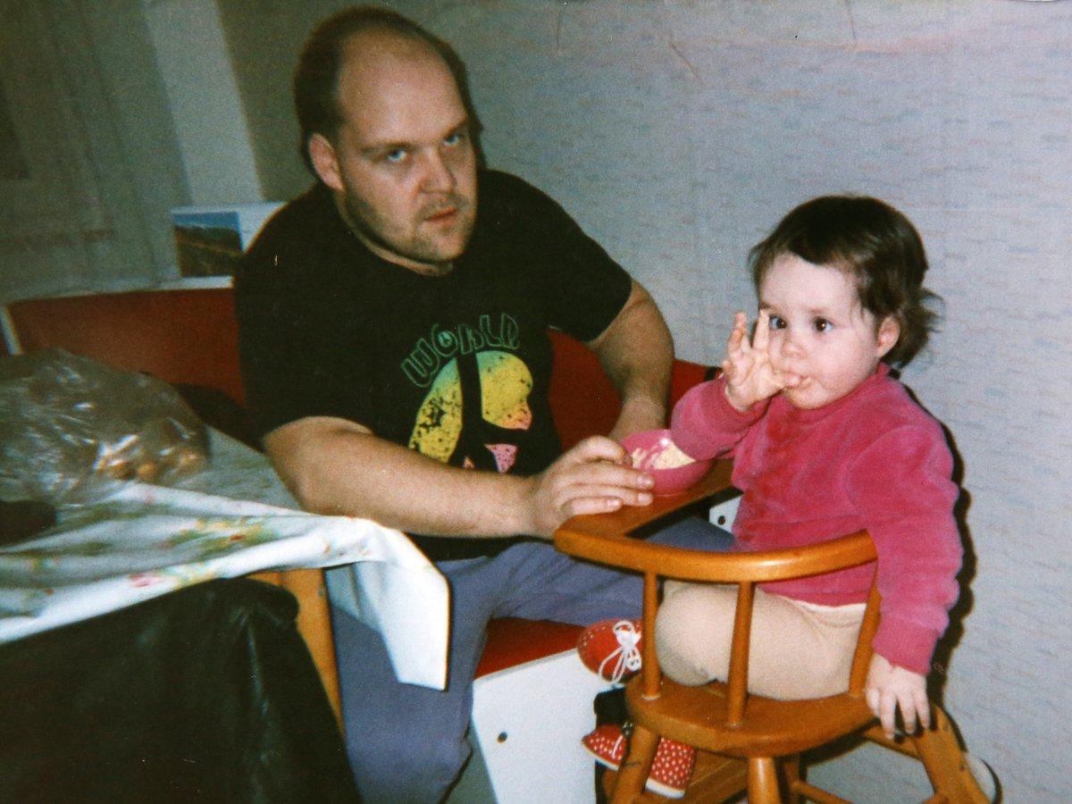 1995 - Martina se svým tátou.