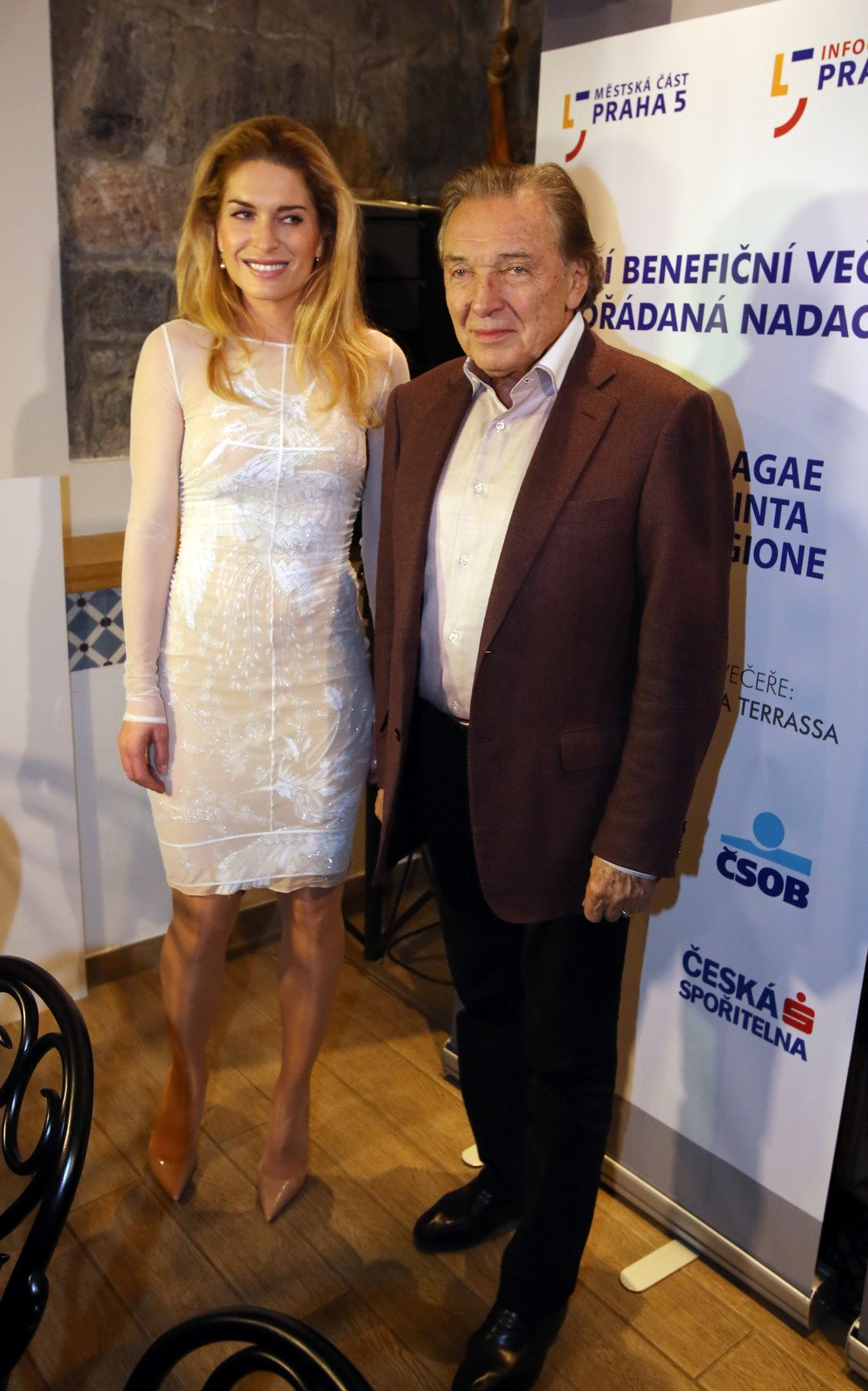 Olga Menzelová a Karel Gott