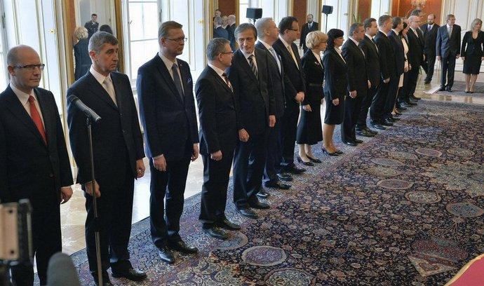 jmenování nové vlády premiéra Bohuslava Sobotky