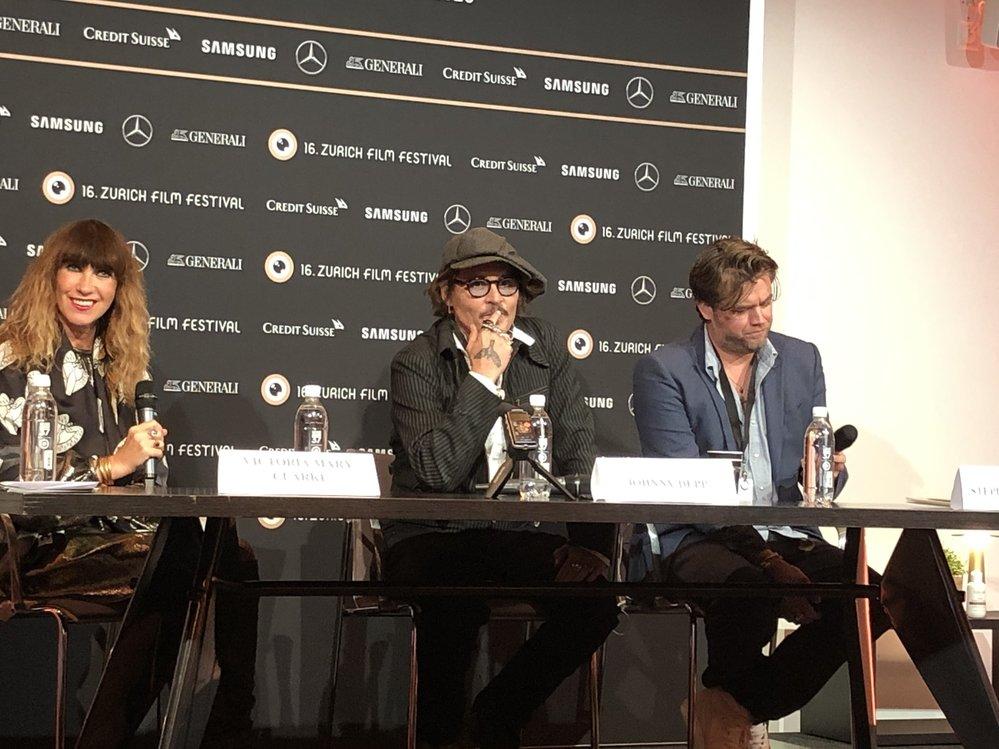 Johny Depp a jeho návštěva filmového festivalu v Curychu