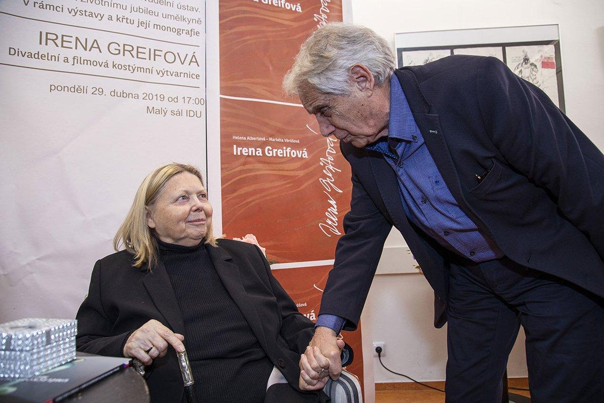 Josef Laufer s manželkou Irenou Greifovou