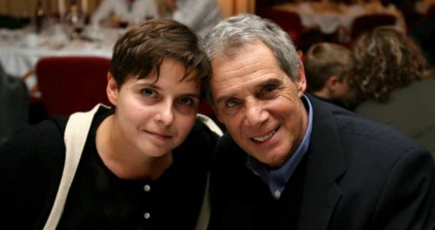 2005 - Jedna z mála společných fotografií Josefa Laufera s dcerou Ester