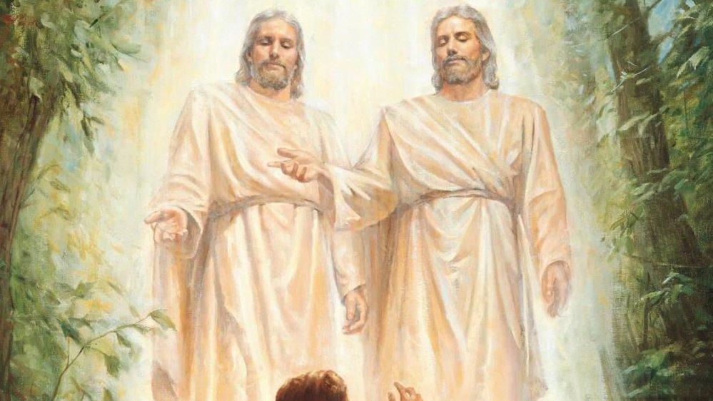 Když je Josephovi 14 let, jde se pomodlit do lesa, a zde se mu údajně zjeví dvě postavy – Bůh a jeho syn Ježíš Kristus.
