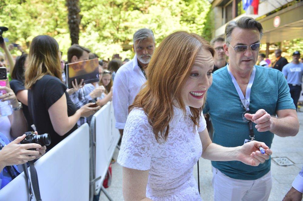 Julianne Moore na Mezinárodním filmovém festivalu v Karlových Varech
