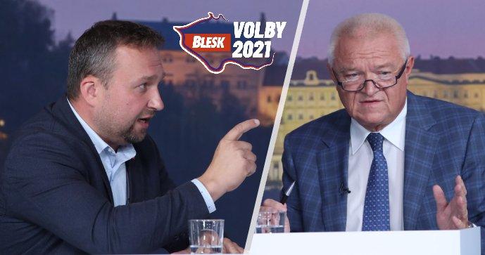Jurečka a Faltýnek šli do sebe v debatě Blesku: Ostrá hádka kvůli zdražování energií