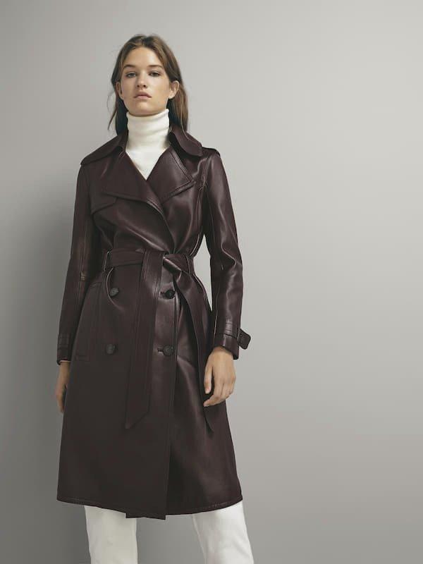 Kožený kabát, Massimo Dutti, 14 995 Kč