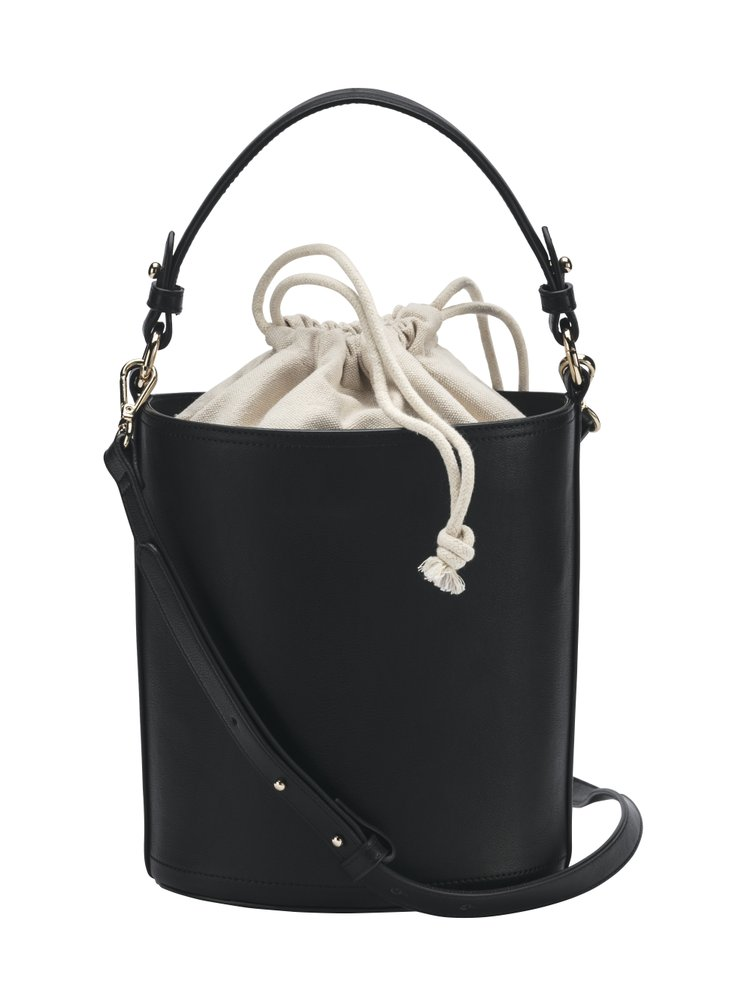 Černá kabelka s plátěným pytlíkem, C&A, 598 Kč