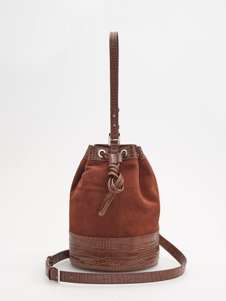 Kožená pytlová kabelka, Reserved, 1099 Kč