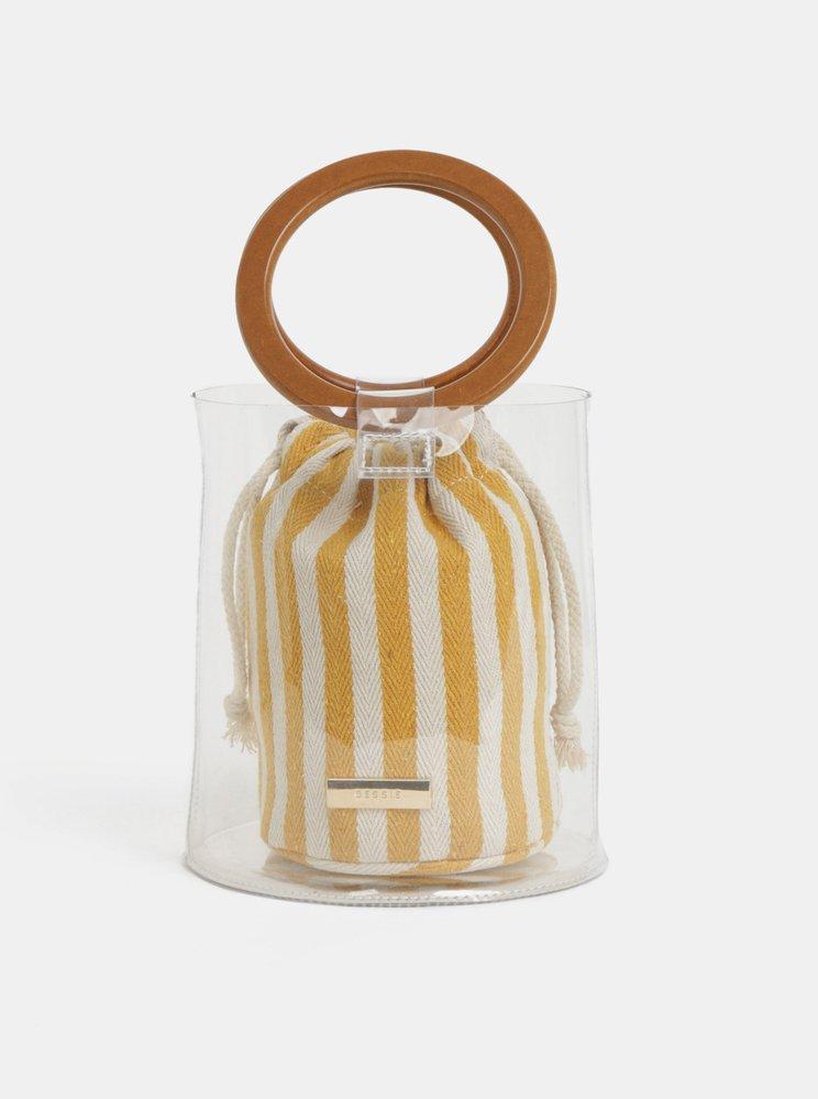 Transparentní vaková kabelka 2v1 Bessie London, zoot.cz, 899 Kč