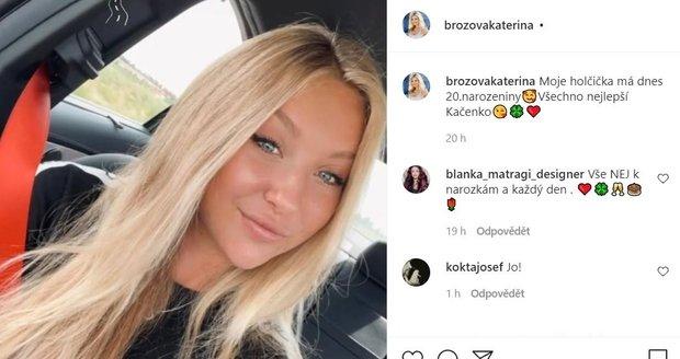 Kačenka Tomanová, dcera Kateřiny Brožové, oslavila 20. narozeniny