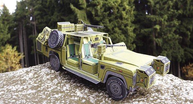 Vojenská technika: Land Rover Defender 130 Kajman