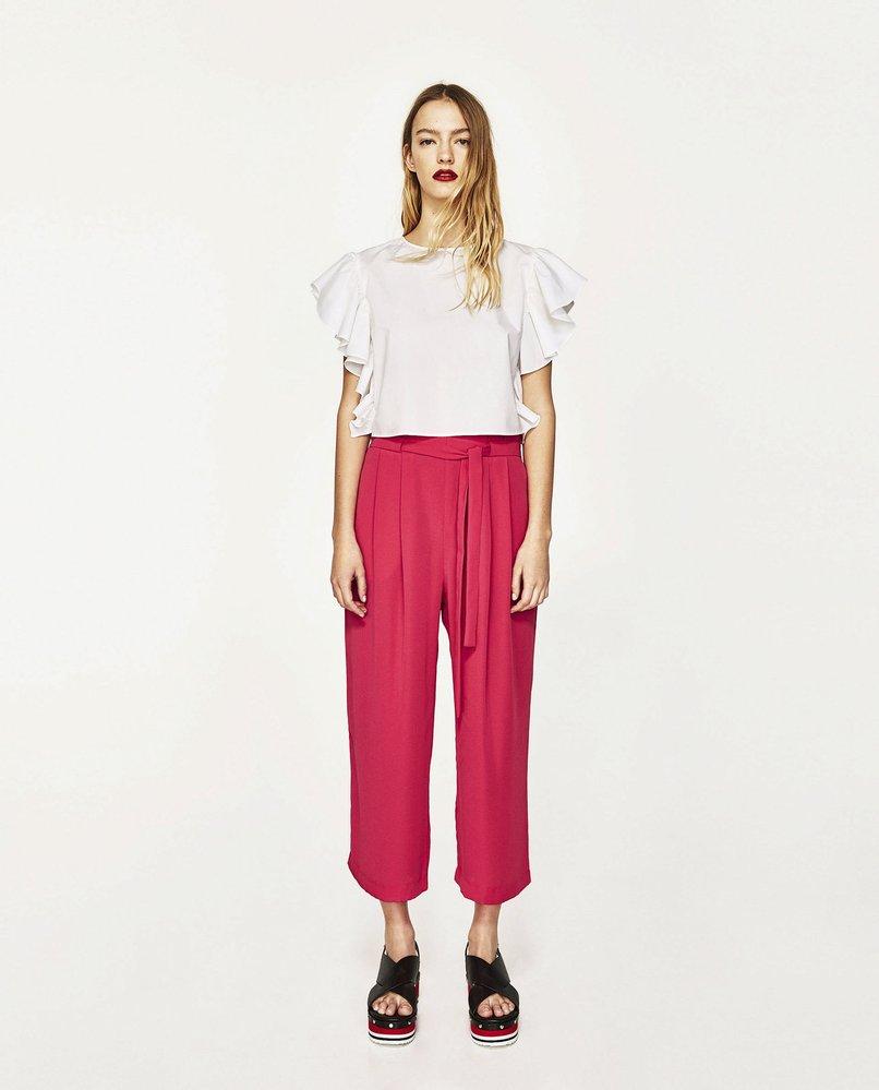 Kalhoty culottes, Zara, 399 Kč