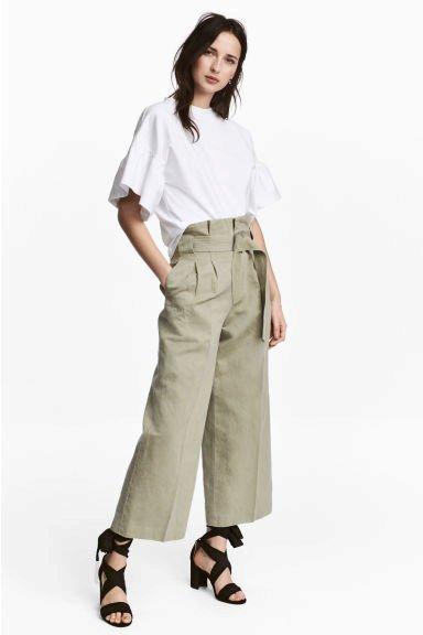 Široké kalhoty s vázačkou, HM, 909 Kč