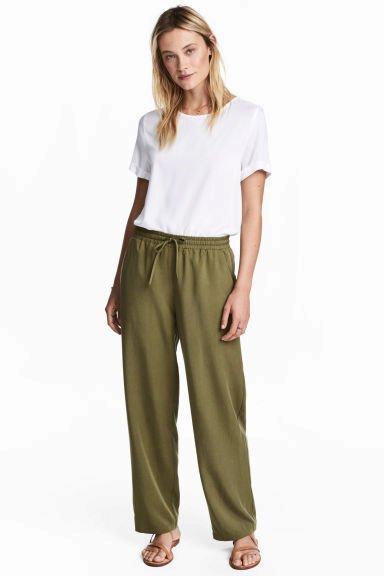 Široké kalhoty z lyocelu, HM, 479 Kč