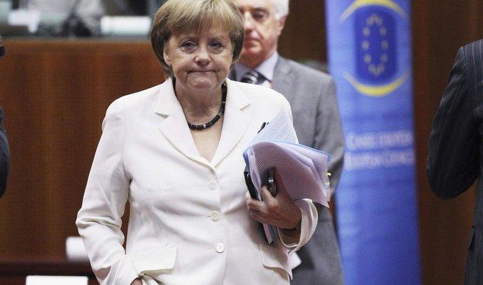 Kancléřka Merkelová na summitu eurozóny