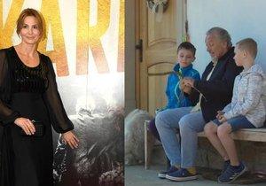 Ivana Gottová zeigte weitere unveröffentlichte Aufnahmen ihres Mannes und ihrer Enkel.