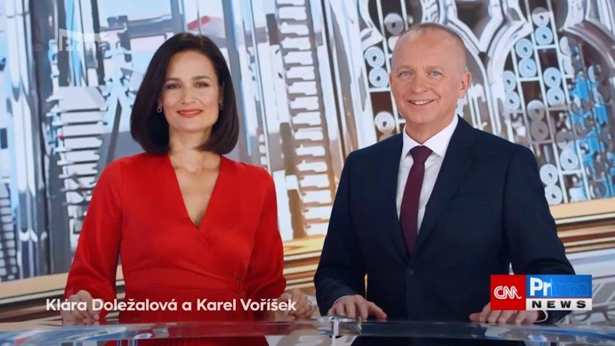 Klára Doležalová a Karel Voříšek na CNN Prima News