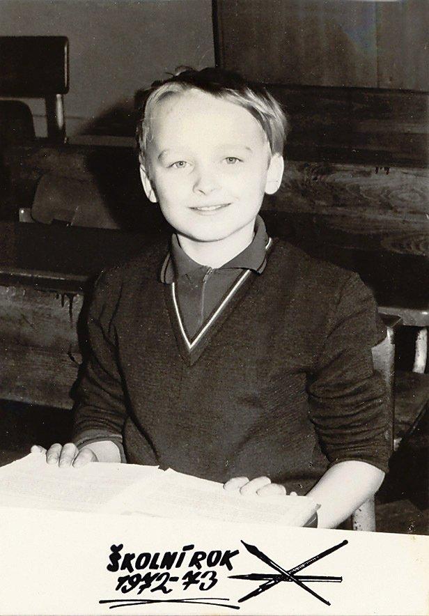 1972: Kája ve 3. třídě, kdy mu bylo 9 let.