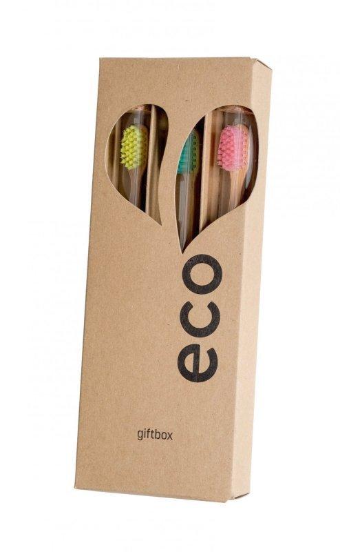 Dárkové balení bambusových kartáčků EcoHeart Giftbox. Vyvinuté na Slovensku. 369 Kč. www.econea.cz