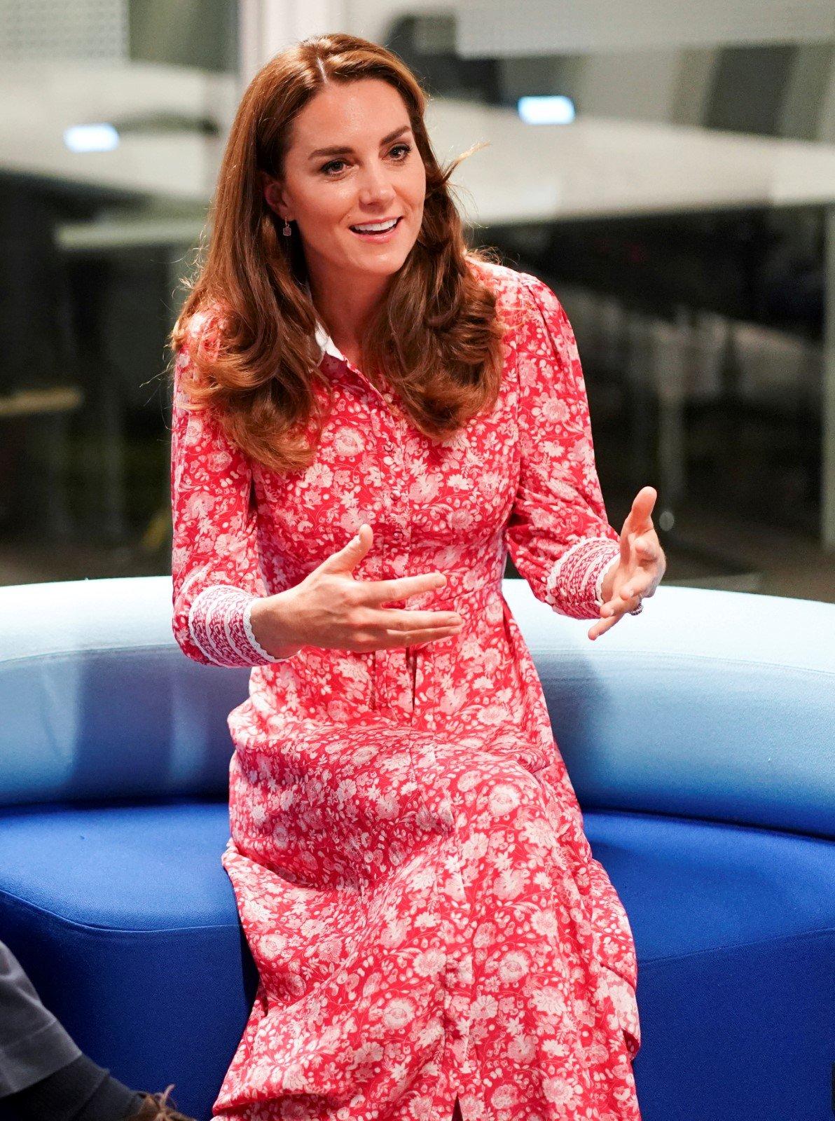 Kate Middleton a princ William v London Bridge Jobcentre