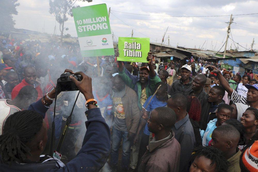 Povolební demonstrace
