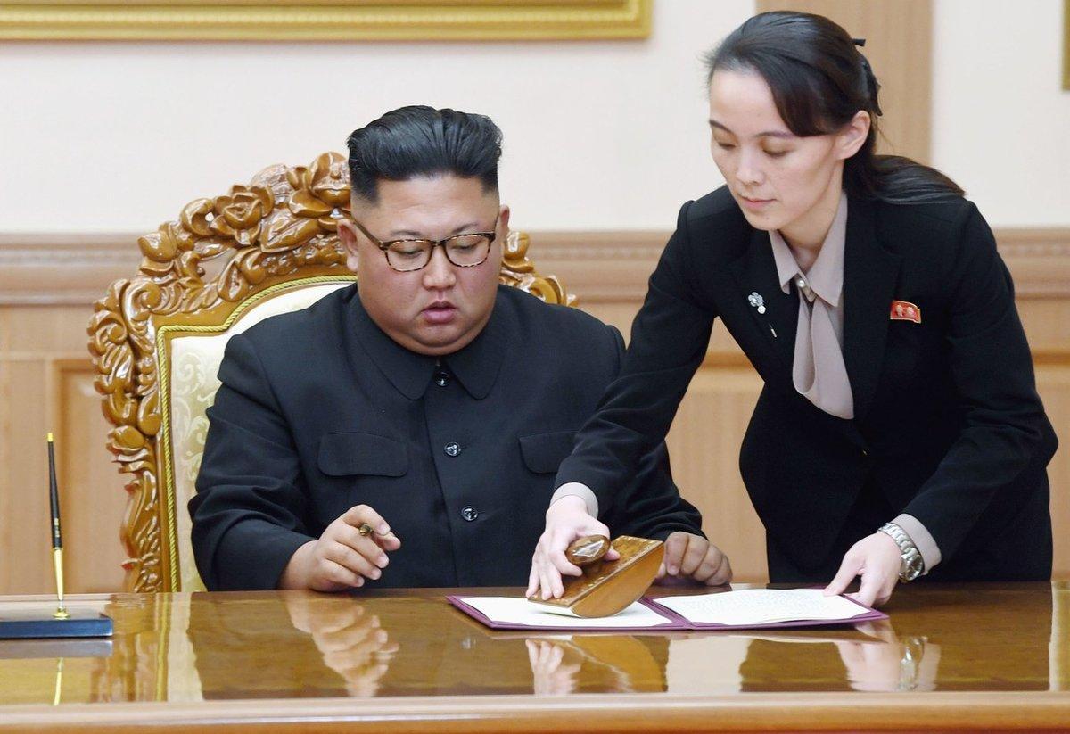V druhé polovině 90. let pak i s bratry odjela studovat pod falešným jménem do Švýcarska. Právě tam se sblížila se svým bratrem Kim Čong-unem, kterému se později stala pravou rukou, rádkyní a důvěrnicí.