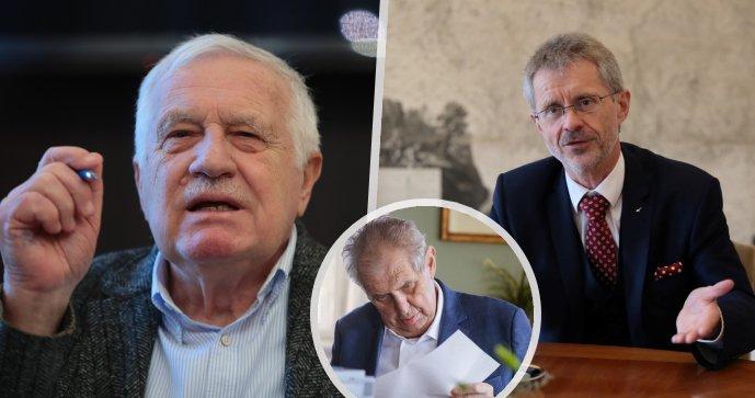 """Klaus se v rozhovoru opřel do šéfa Senátu. """"Hraje si na válku,"""" hlásá exprezident"""