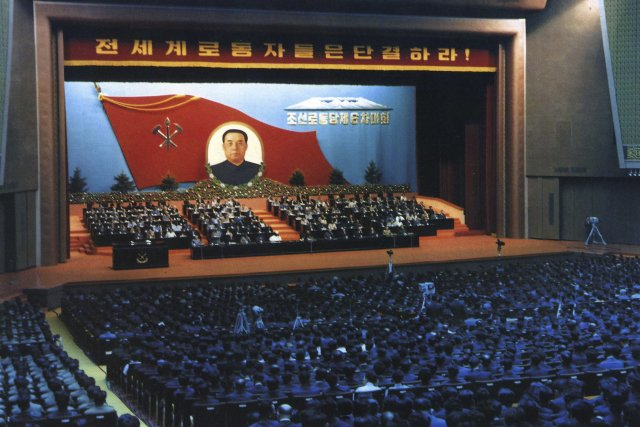 Sjezd dělnické strany KLDR v roce 1980