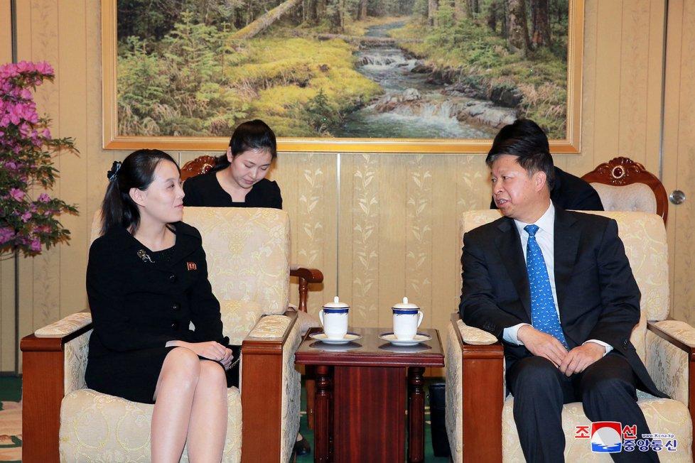 Kim Jo-čong, mladší sestra severokorejského diktátora Kim Čong-una. Kim často působí jako bratrovova velvyslankyně.