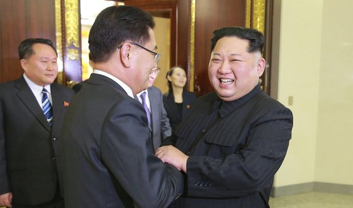 Setkání zástupců KLDR a Jižní Koreji. Přítomen byl i vůdce Kim-Jong un
