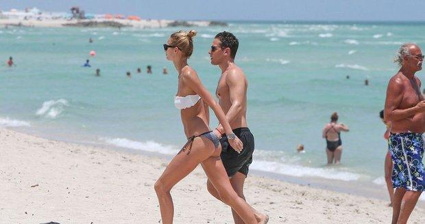 Milenci si užívali na Miami.