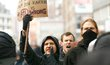 Protesty proti sjezdu pravicové a protiuprchlické strany AfD v Kolíně nad Rýnem