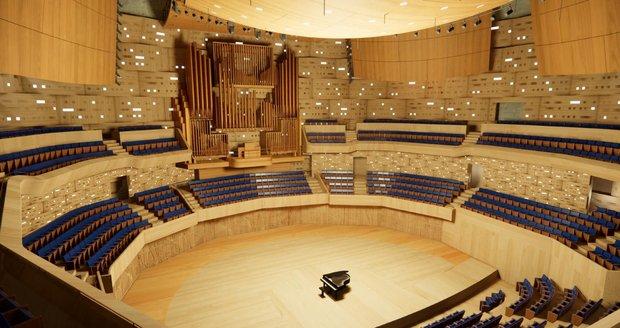 Hlavní sál se má pyšnit dokonalou akustikou.