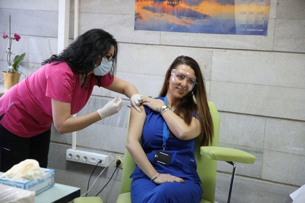 Očkování vakcínou Moderna v Bulharsku.