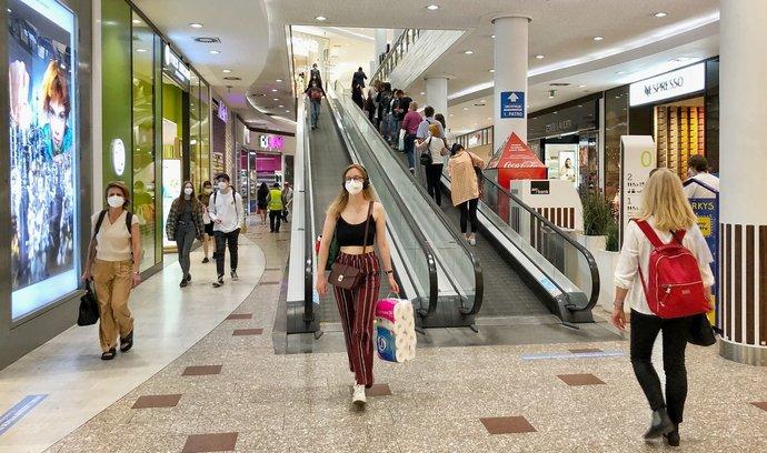 Obchody v Česku mohly 10.5.2021 opět otevřít: Palladium v Praze