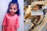 S koronavirem bojuje i tříletá holčička. Aliye selhaly plíce, dýchají za ni přístroje