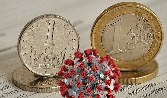 Koruna vůči euru v posledních dnech oslabuje.