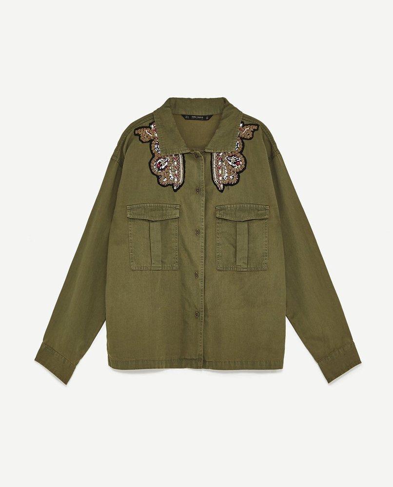 Košile vojenského stylu, Zara, 899 Kč