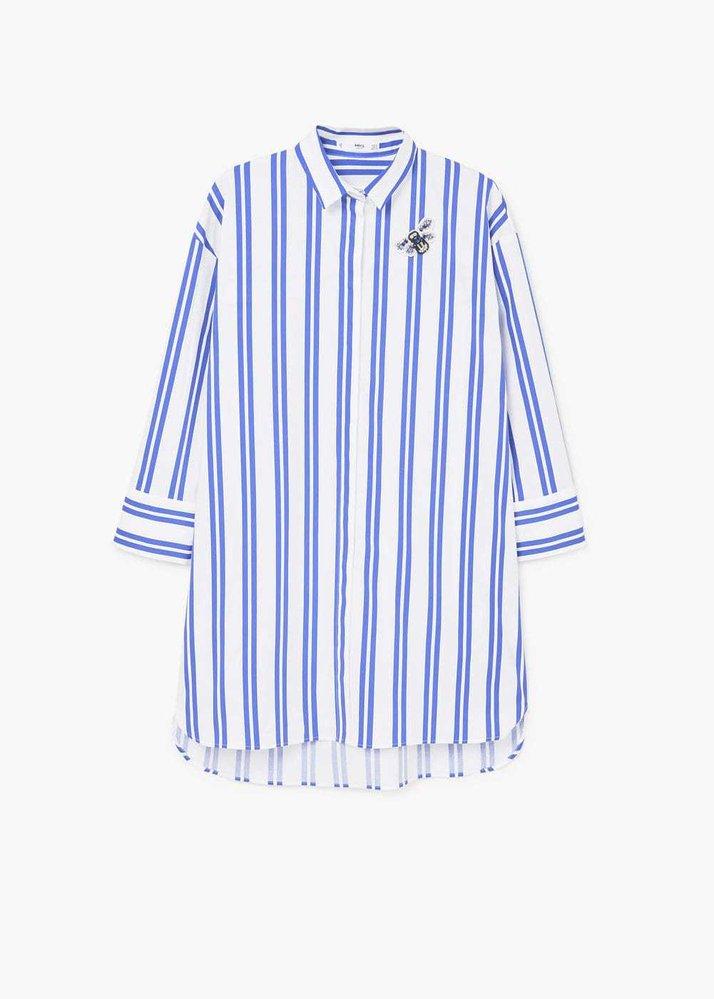 Oversize pruhovaná košile, Mango, 899 Kč