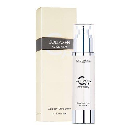 Jemný pleťový krém Collagen Active, For Life and Madaga, forlifemadaga.com, 696 Kč/50 ml