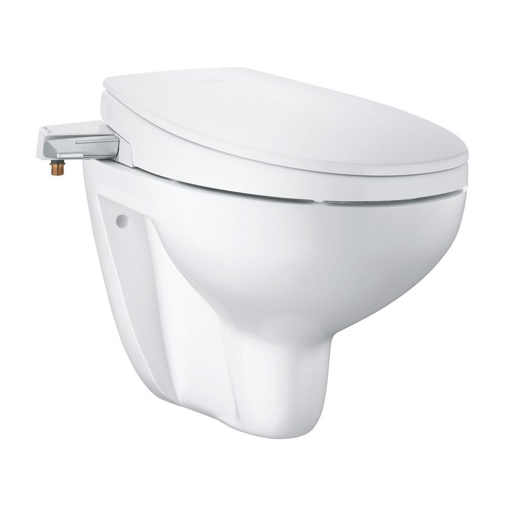 Mechanismus manuálního bidetového sedátka GROHE pohání tekoucí voda a k ovládání slouží postranní páčka, díky které si sami určíte, kolik vody vyčerpáte