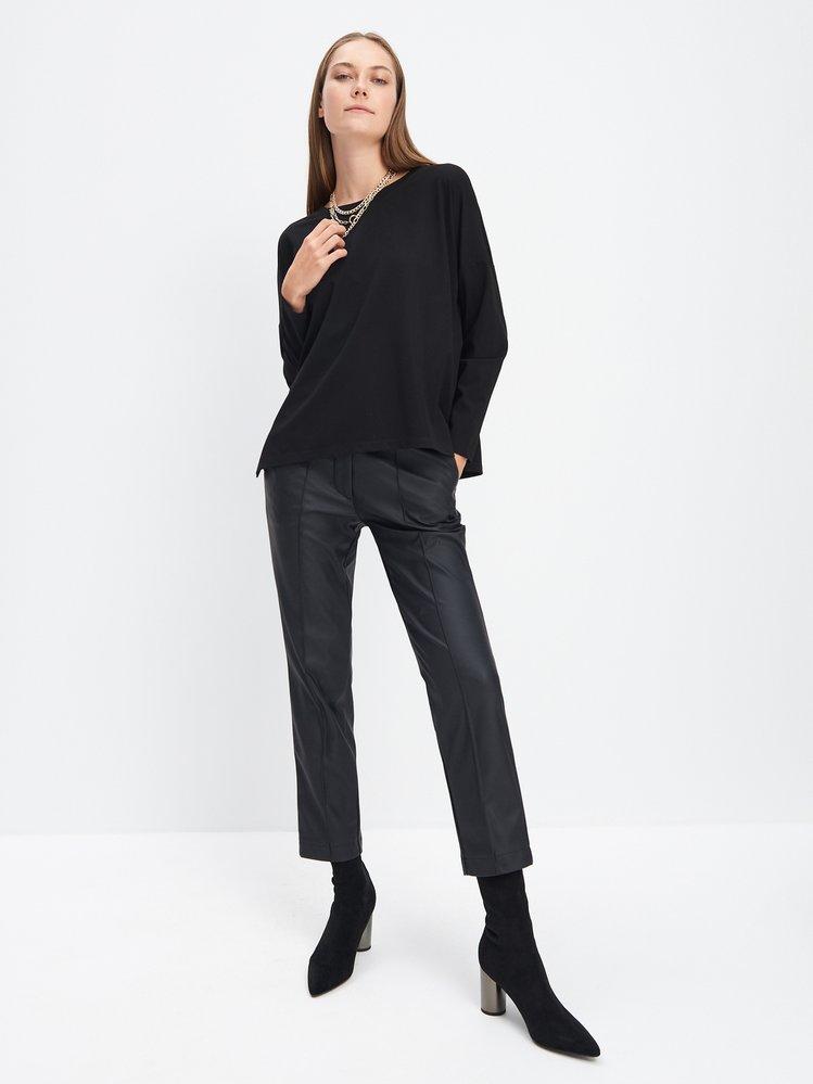 Koženkové cigaretové kalhoty, Mohito, 699 Kč