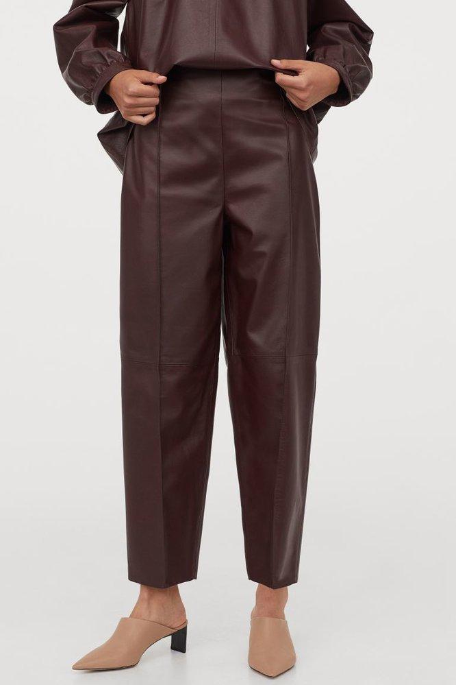 Kožené kalhoty, H&M, 6999 Kč